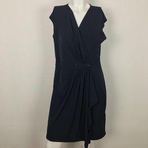 MICHAEL Michael Kors Dress Navy Blue Wrap Size L